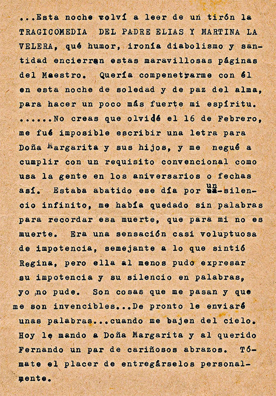 Carta de Gonzalo Arango a Rosemary Smith (Rosa Girasol